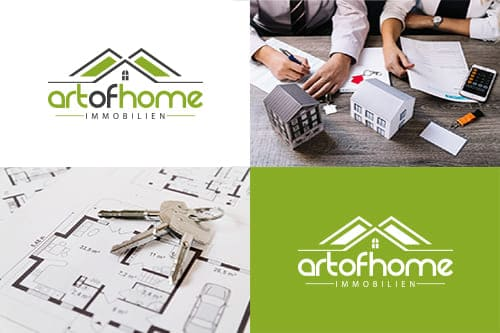 Art of Home Immobilien Logodesign aus Mülheim an der Ruhr