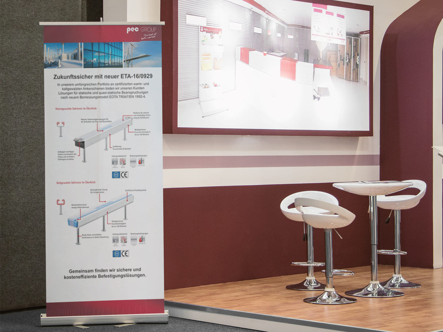 Roll-Up-Banner Printdesign PEC Europe in Duisburg
