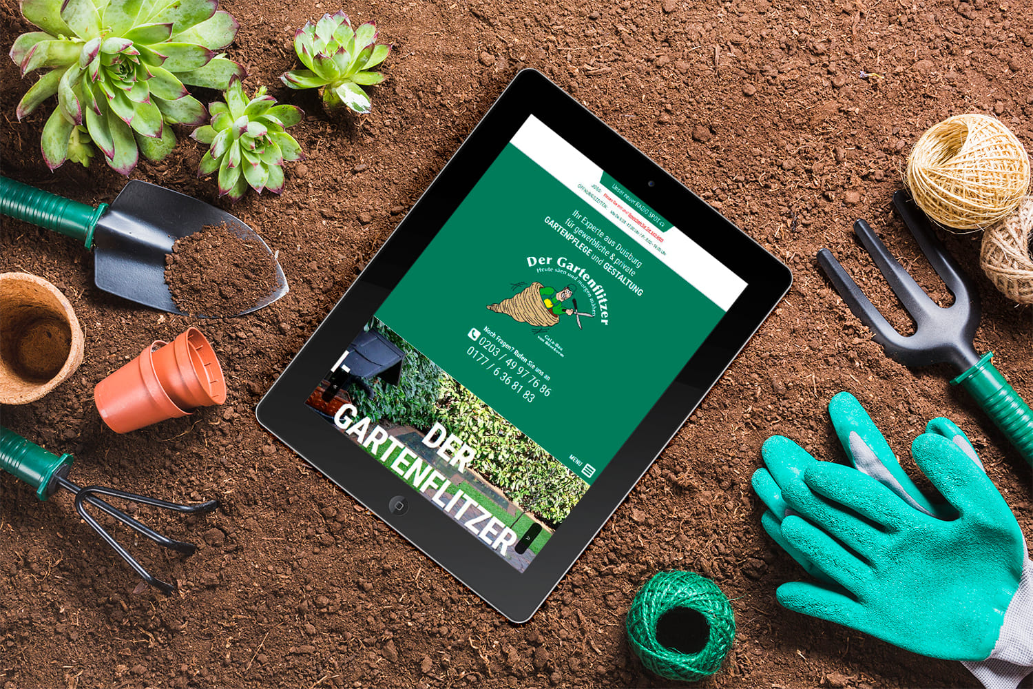 Webdesign | Website Der Gartenflitzer in Duisburg
