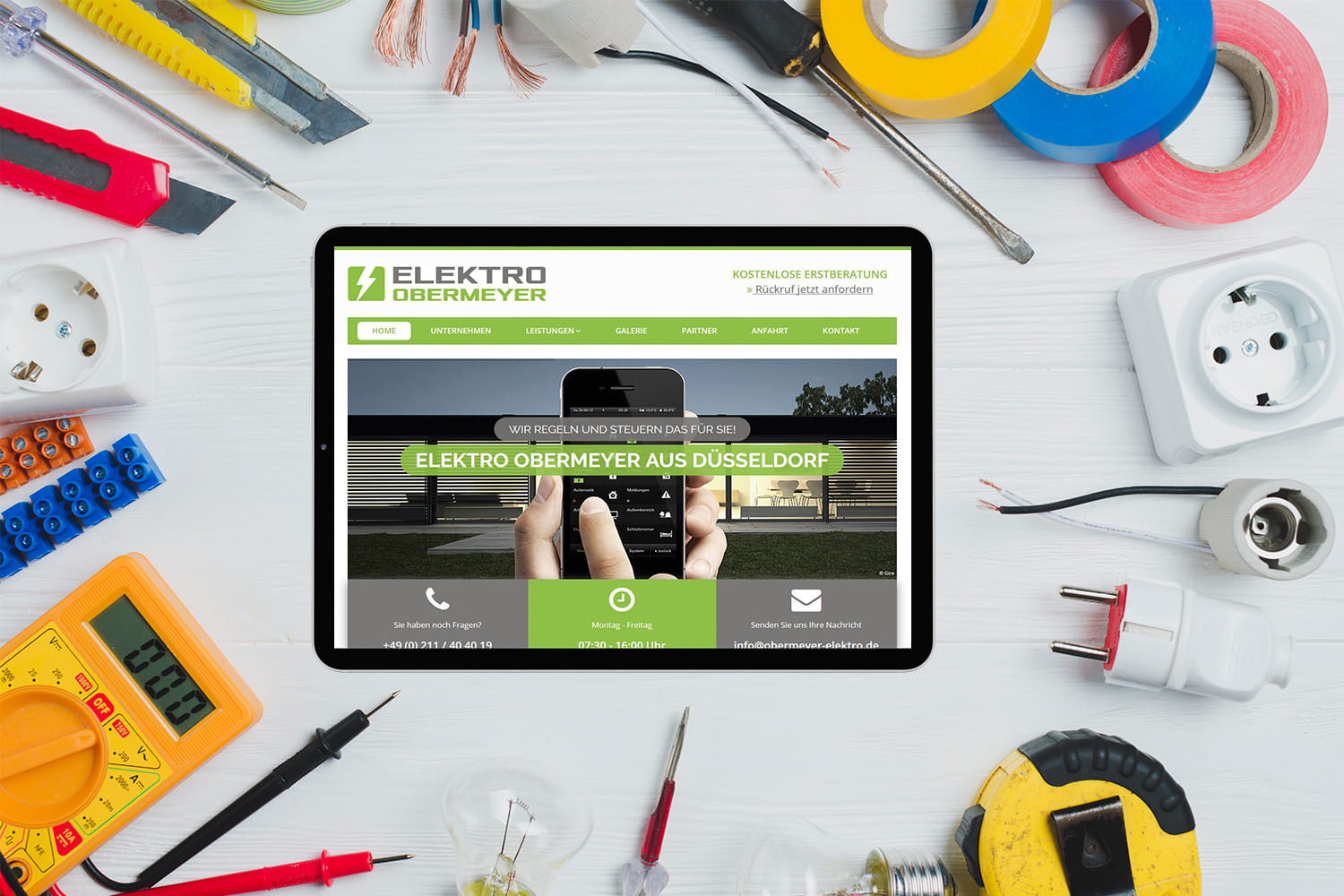 Webdesign | Website Elektro Obermeyer in Düsseldorf