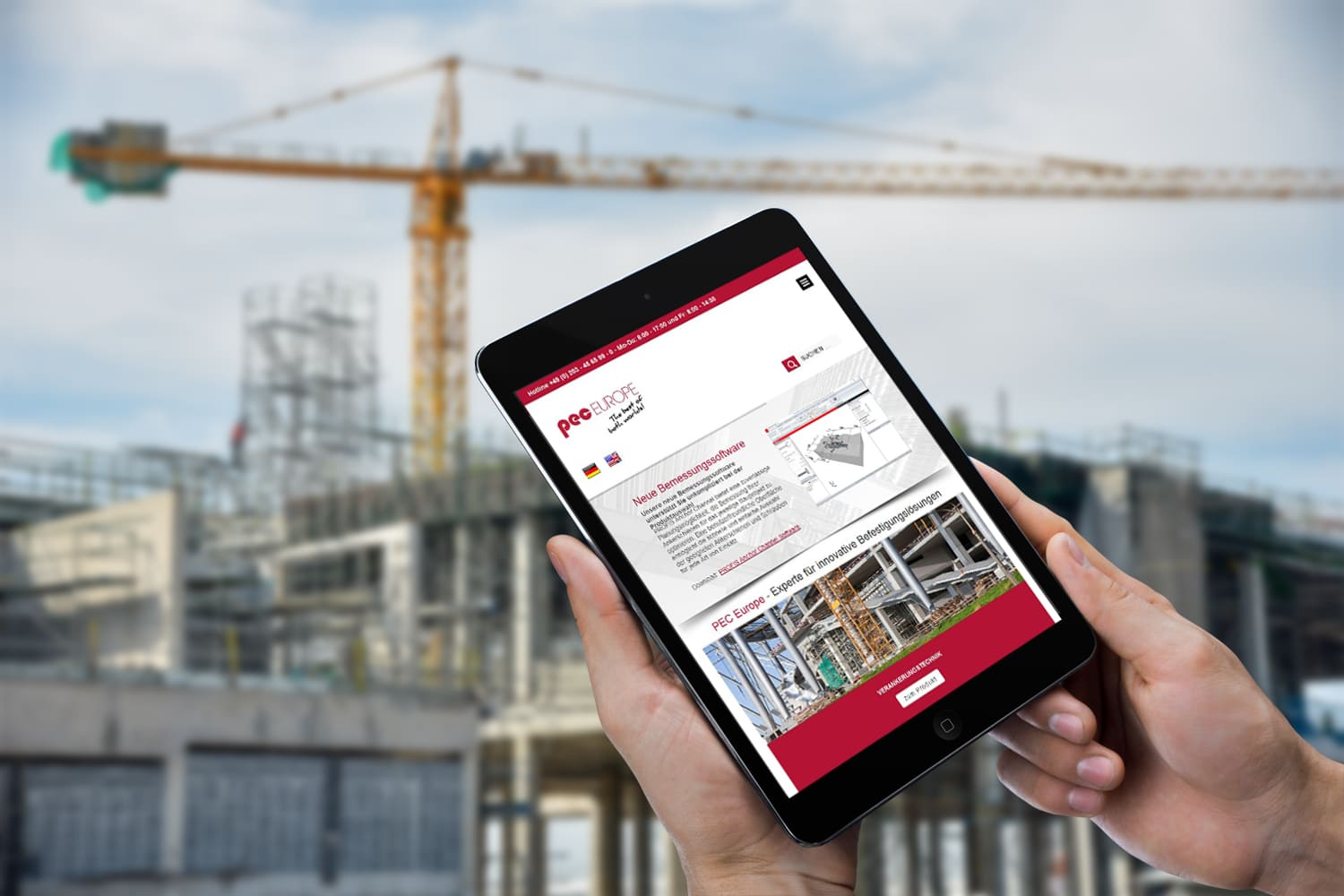Webdesign | Website PEC Europe GmbH in Duisburg