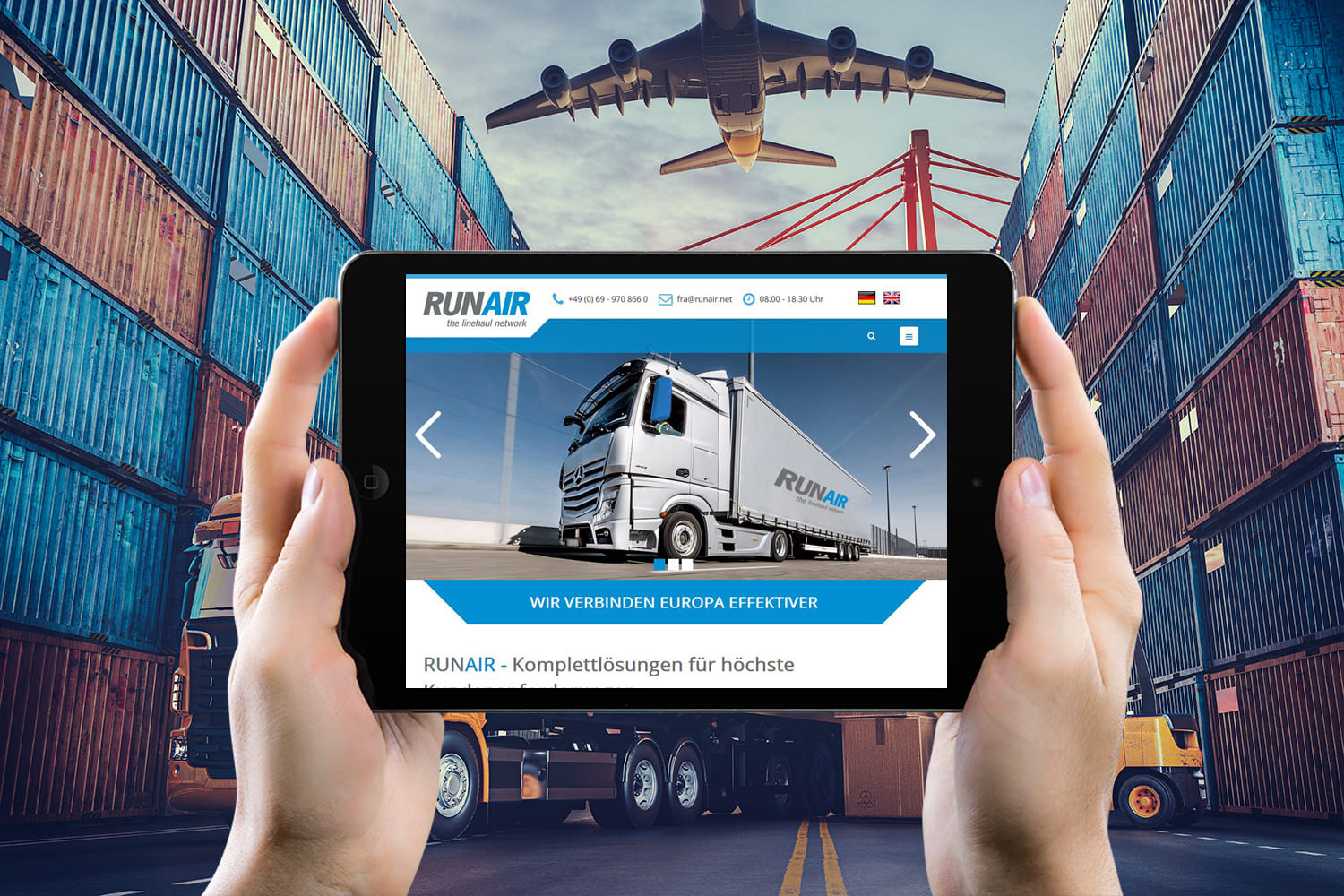 Webdesign | Website RUNAIR GmbH in Frankfurt