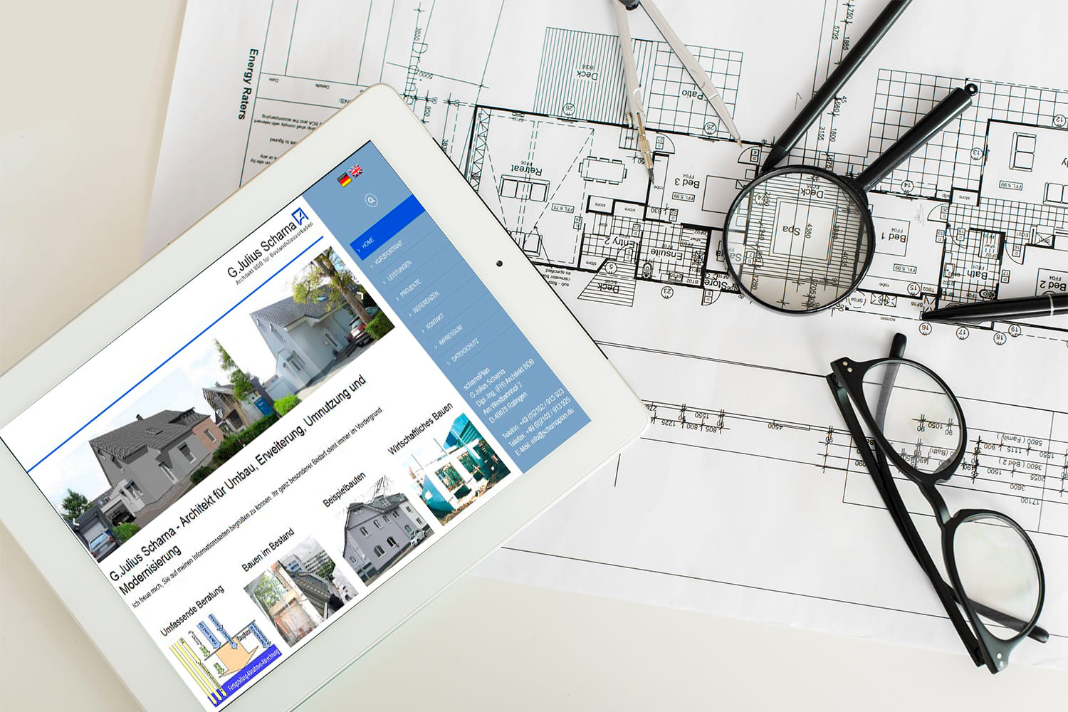 Webdesign | Website G.Julius Scharna Dipl.-Ing. (FH) Architekt BDB in Ratingen
